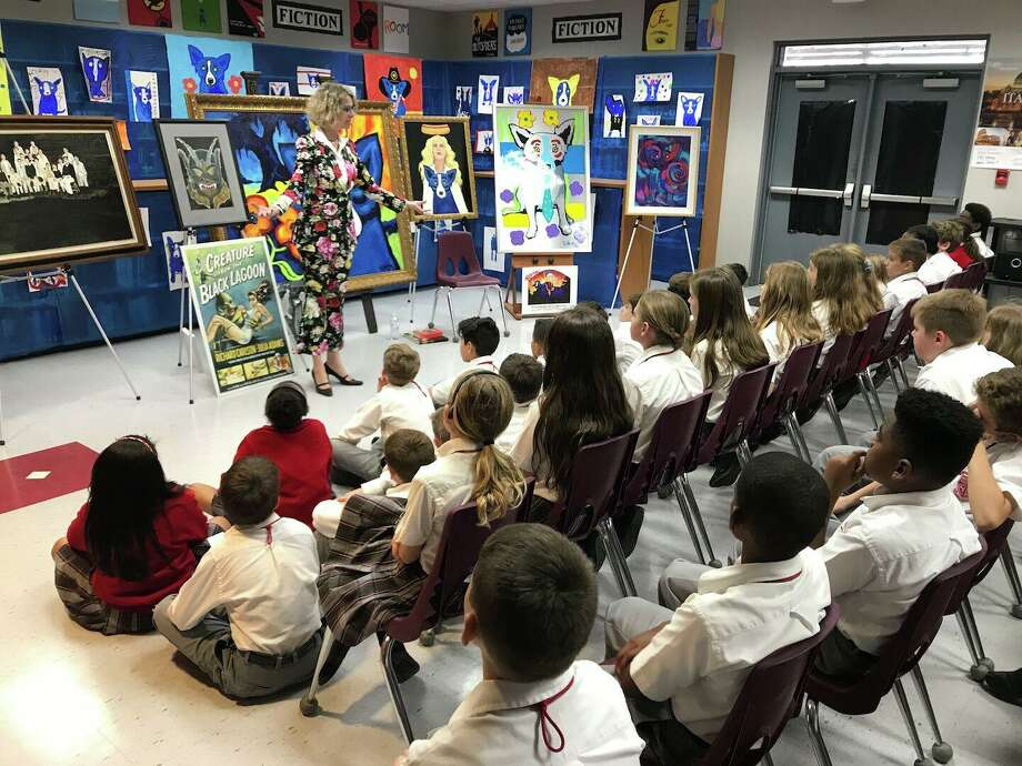 Wendy Rodrigue has visited dozens of schools to speak with children about her husband, George Rodrigue, his art, and his legacy. Photo: Provided