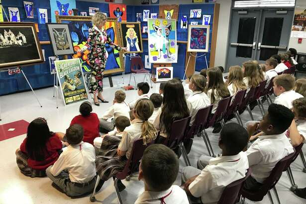 Wendy Rodrigue has visited dozens of schools to speak with children about her husband, George Rodrigue, his art, and his legacy.