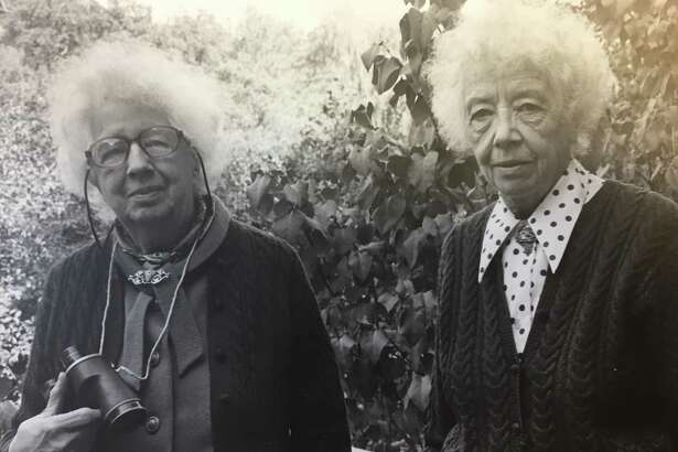 "Here is a picture of Helen and Alice Bristow from around 1971 when the Bristow Bird Sanctuary and Wildwood Preserve was named in their honor! ""What a wonderful pair,"" Chairman of the Conservation Commission Chris Schipper said as he brought the picture to the attention of the New Canaan Advertiser."