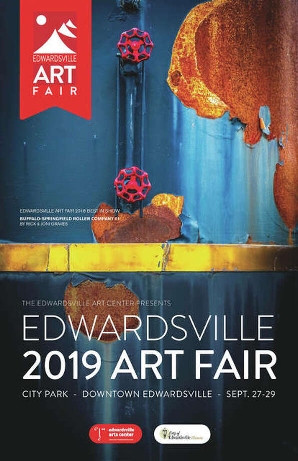 The Edwardsville Arts Center's 2019 Edwardsville Arts Fair commemorative poster features the work of last year's Best of Show winner, Buffalo-Springfield Roller Company 01 by Rick and Joni Graves, from Wisconsin. Last year was the first time a photography entry won Best of Show. Photo: For The Edge