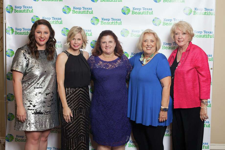 Jess Washburn, the city of Katy tourism and marketing assistant, and affiliate coordinator for Keep Katy Beautiful, now is a member of the Keep Texas Beautiful (KTB) board of directors. From left are: Washburn, Kayce Reina, Katy director of marketing & public relations; Kathy Wiesner; Jamie Wolman and Kay Callender. Wiesner, Wolman and Callender belong to Keep Katy Beautiful. Wolman also formerly served on the KTB board. Photo: Keep Texas Beautiful / Keep Texas Beautiful