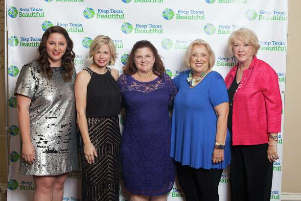 Jess Washburn, the city of Katy tourism and marketing assistant, and affiliate coordinator for Keep Katy Beautiful, now is a member of the Keep Texas Beautiful (KTB) board of directors. From left are: Washburn, Kayce Reina, Katy director of marketing & public relations; Kathy Wiesner; Jamie Wolman and Kay Callender. Wiesner, Wolman and Callender belong to Keep Katy Beautiful. Wolman also formerly served on the KTB board.