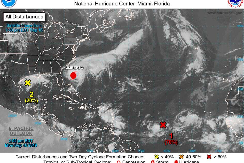 The National Hurricane Center predicts heavy rain along the Gulf Coast starting Tuesday night or Wednesday as an area of low pressure develops.
