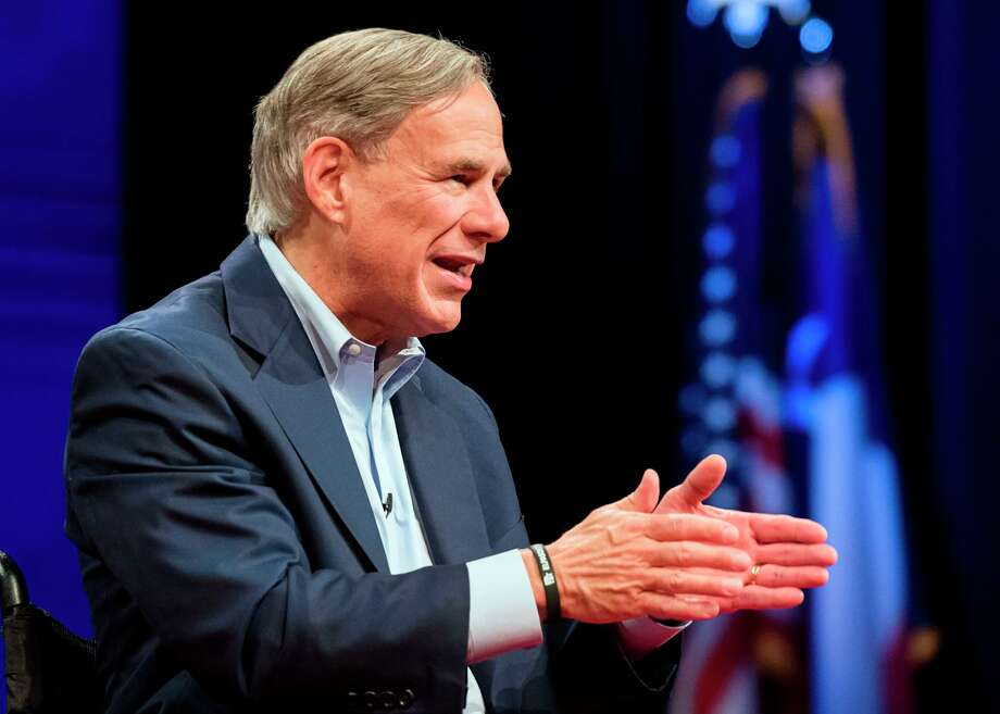 Texas Gov. Greg Abbott answers questions during a town hall, Thursday, Aug. 15, 2019 in Tyler, Texas. (Cara Campbell/Tyler Morning Telegraph via AP) Photo: Cara Campbell, MBI / Associated Press / Tyler Morning Telegraph