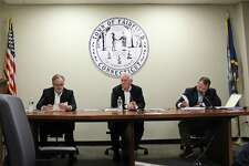 The Board of Selectmen at their Sept. 4 meeting.