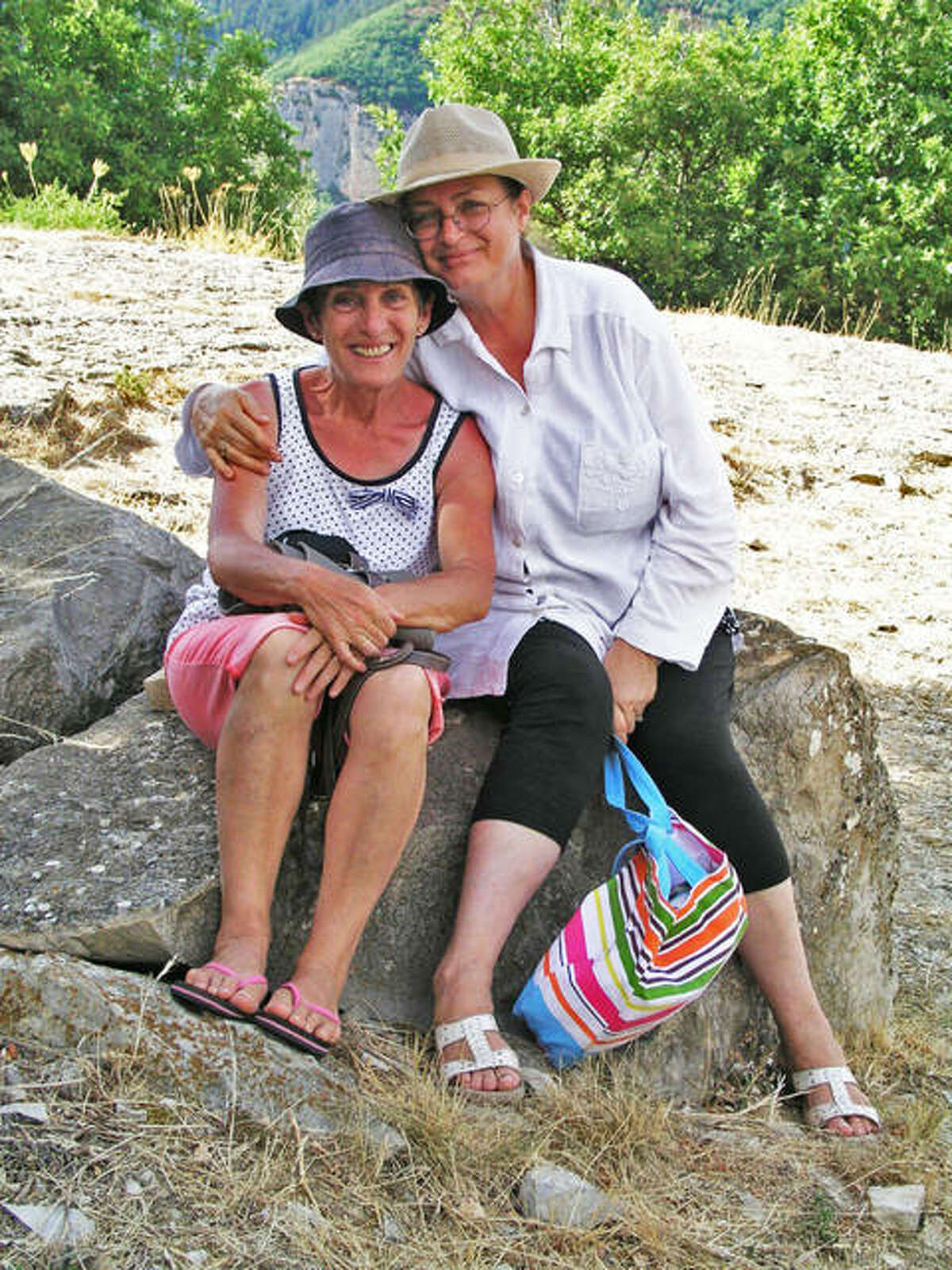 Annie Almoguera (left) and Mary Wilson (right) in France during Wilson's trip to see her lifelong friend in 2015. PenPals for 46 years, Almoguera and Wilson started exchanging letters to each other when they were just 15 years old and never let distance stand in the way of creating a lasting friendship.