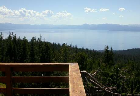 From the Martis Peak Lookout, perched at 8,656 feet over North Tahoe, you can take in the expanse of Lake Tahoe and its surrounding mountain rim