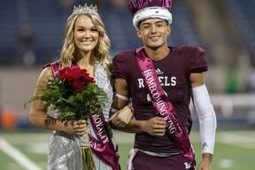 Paige Low is crowned homecoming queen and Karl Taylor is crowned homecoming king on Friday, Sept. 13, 2019 at Grande Communications Stadium. Jacy Lewis/Reporter-Telegram