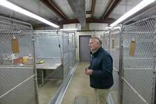 Bethel Director of Public Works Douglas Arndt looks over the towns Animal Shelter. The town plans on repairing the shelter to meet state requirements. Wednesday, May 15, 2019, in Bethel, Conn.
