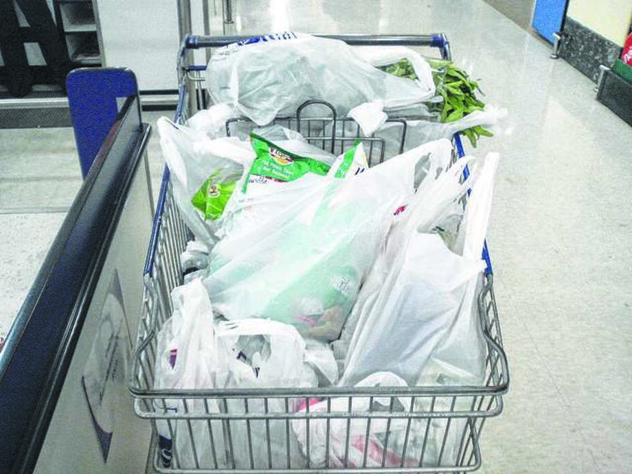 Bring Your Own Glen-Ed seeks to charge Edwardsville residents a 10-cent fee for single-use plastic bags like these.