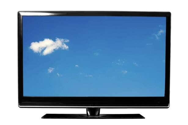 Big screen TV set