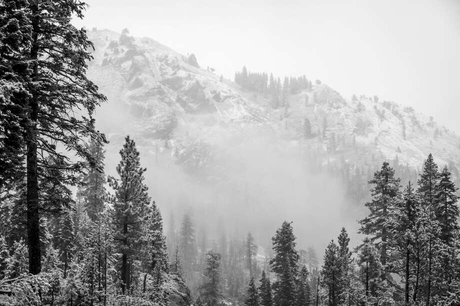 'Robust' cold front turns Tahoe Basin into a snow globe