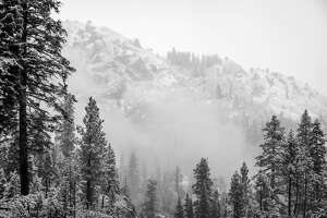 The first snow of the season fell Monday at Alpine Meadows.