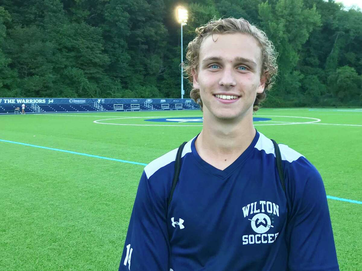 Wilton Senior Michael Zizzadoro scored two goals in the Warriors 3-1 win over Norwalk on Monday, Sept. 16, 2019.