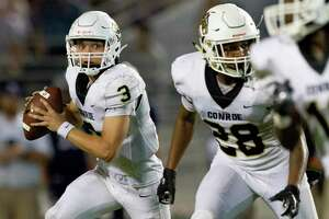 Conroe quarterback Christian Pack (3) was voted The Courier's Player of the Week after accounting for 300 total yards and four touchdowns against College Park.