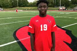 Sophomore Isaac Dumeny recorded a hat trick in Greenwich's 5-0 win vs. New Canaan on Monday, Sept. 16, 2019, in Greenwich.