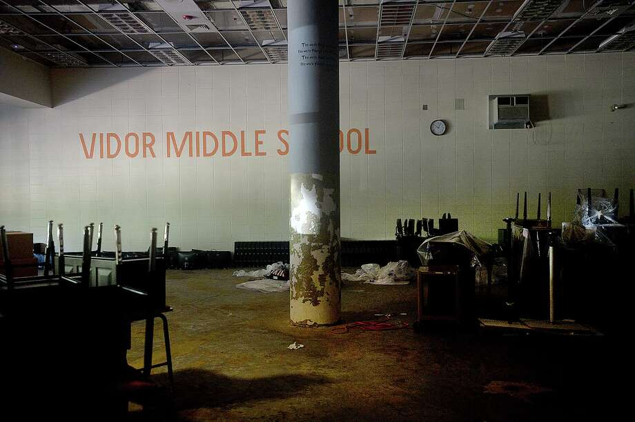 Vidor Middle School remains closed after being gutted following flood damage from Tropical Storm Harvey nearly two years ago. Click through to see how Harvey damaged schools across SE Texas. Photo: Kim Brent / The Enterprise / BEN