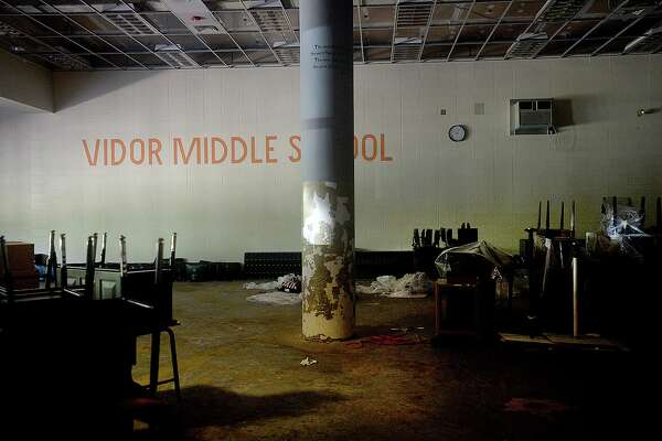 Vidor MIddle School remains closed after being gutted following flood damage from Tropical Storm Harvey nearly two years ago. Principal Kerri Pierce says the district still is awaiting word from FEMA about funds to either repair or rebuild the school. Photo taken Wednesday, March 27, 2019 Kim Brent/The Enterprise
