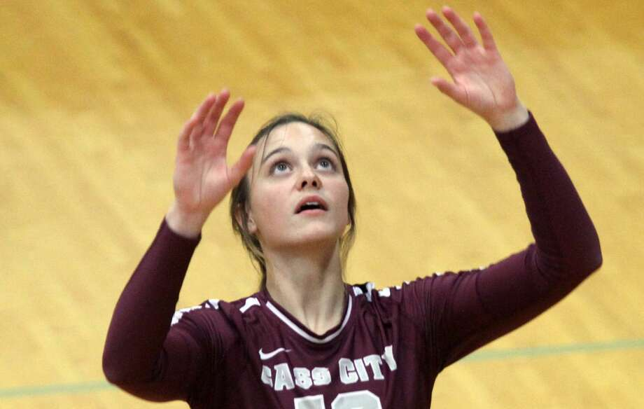 Hailey Beckrow of the Cass City volleyball team focuses on the ball during a recent match. Photo: Tribune File Photo
