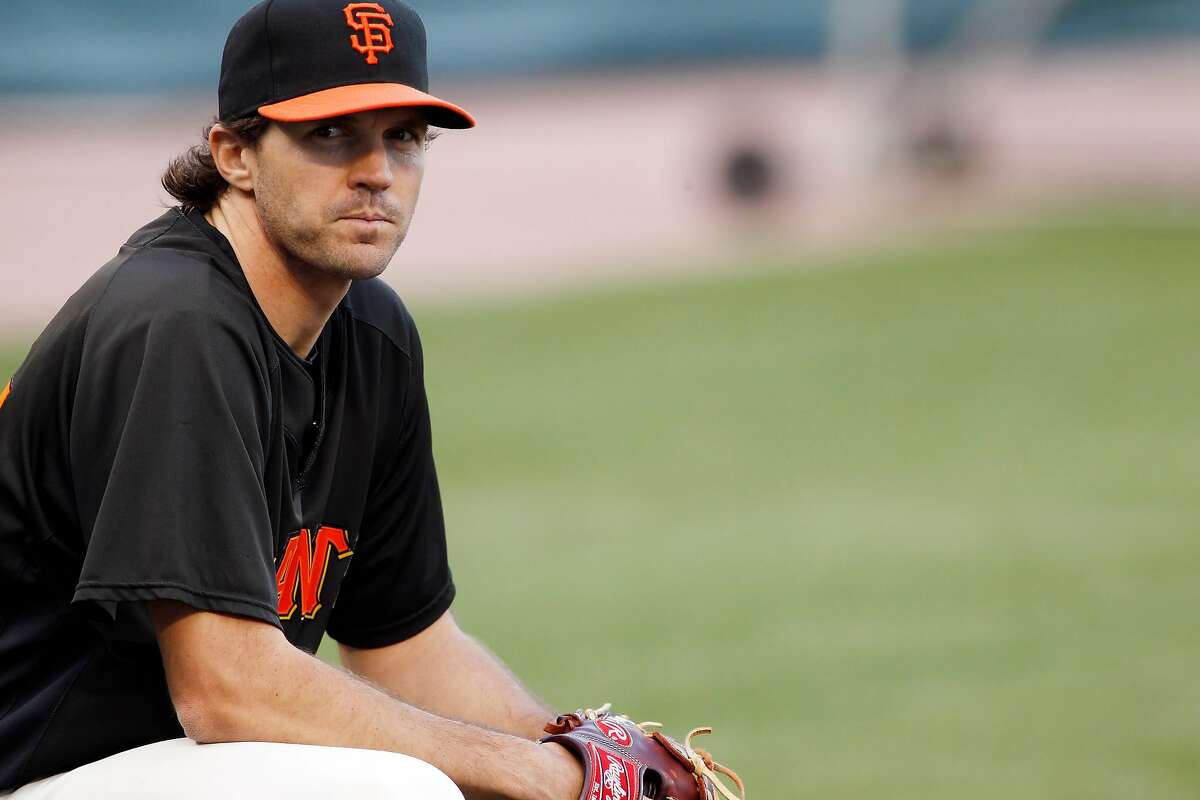 Barry Zito watches batting practice from the sidelines on Tuesday. The San Francisco Giants practiced AT&T Park in San Francisco, Calif., on Tuesday, October 5, 2010, in preparation for their National League Division Series against the Atlanta Braves.