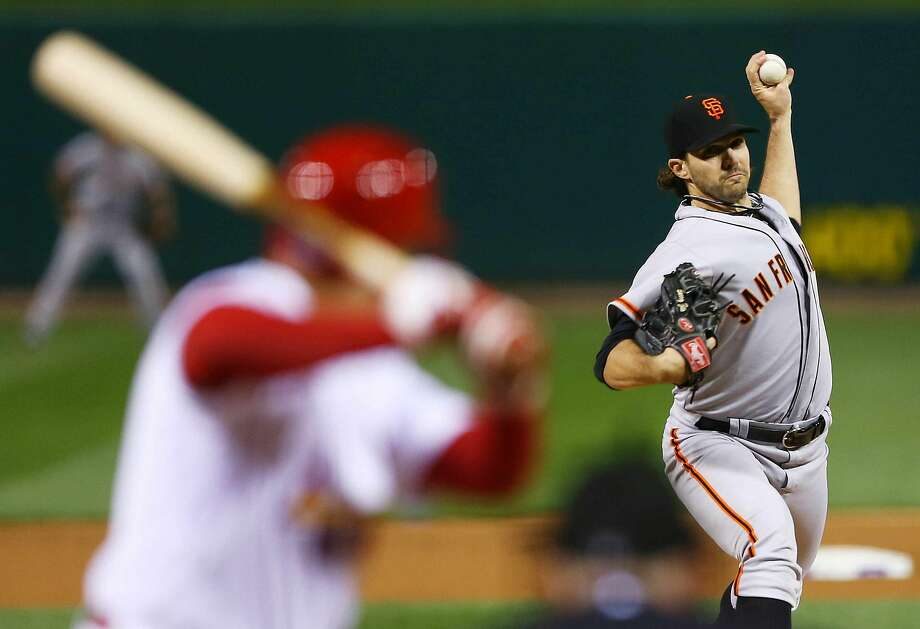 San Francisco Giants starting pitcher Barry Zito throws during the first inning of Game 5 of baseball's National League championship series against the St. Louis Cardinals, Friday, Oct. 19, 2012, in St. Louis. (AP Photo/Elsa, Pool) Photo: Elsa / Associated Press