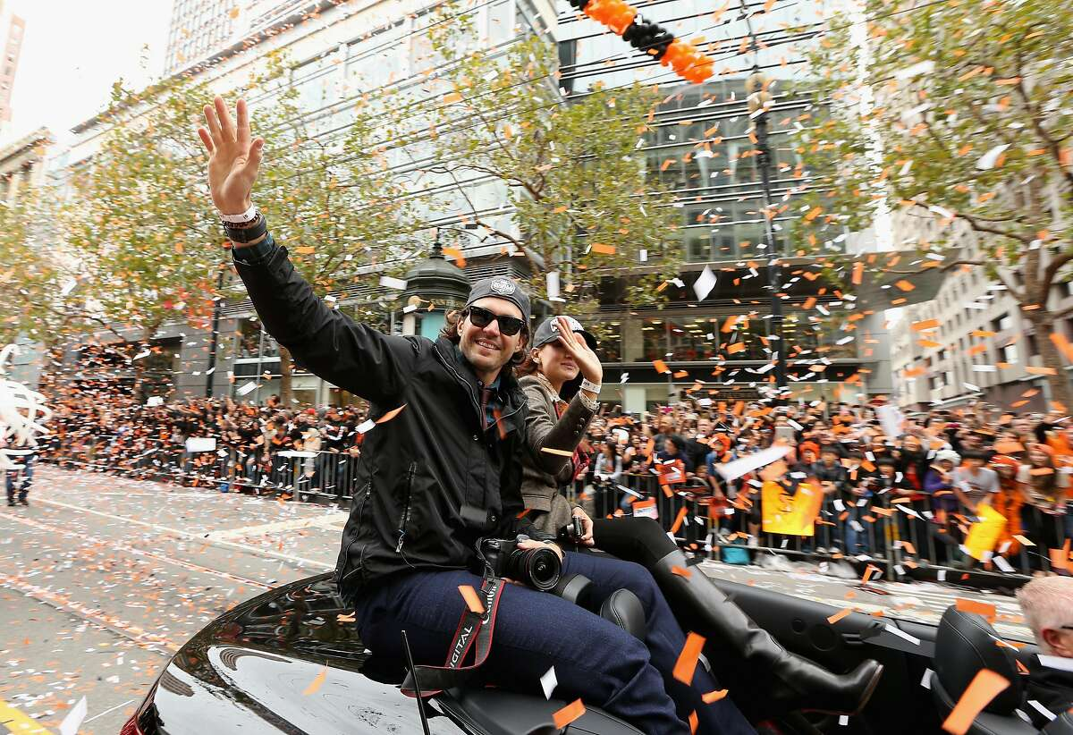SAN FRANCISCO, CA - OCTOBER 31: Barry Zito #75 of the San Francisco Giants waves to the crowd during the San Francisco Giants World Series victory parade on October 31, 2012 in San Francisco, California. The San Francisco Giants beat the Detroit Tigers to win the 2012 World Series. (Photo by Ezra Shaw/Getty Images)