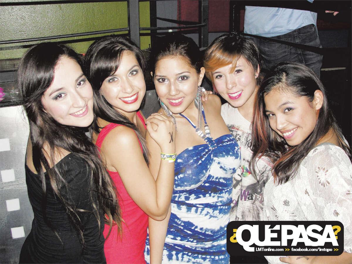 Krissy Montemayor, Shari Ovalle, Ashley Cantu, Amanda Delgado and Nikii Guerra at F-Bar 2013 ¿Qué Pasa? Out & About Galleries