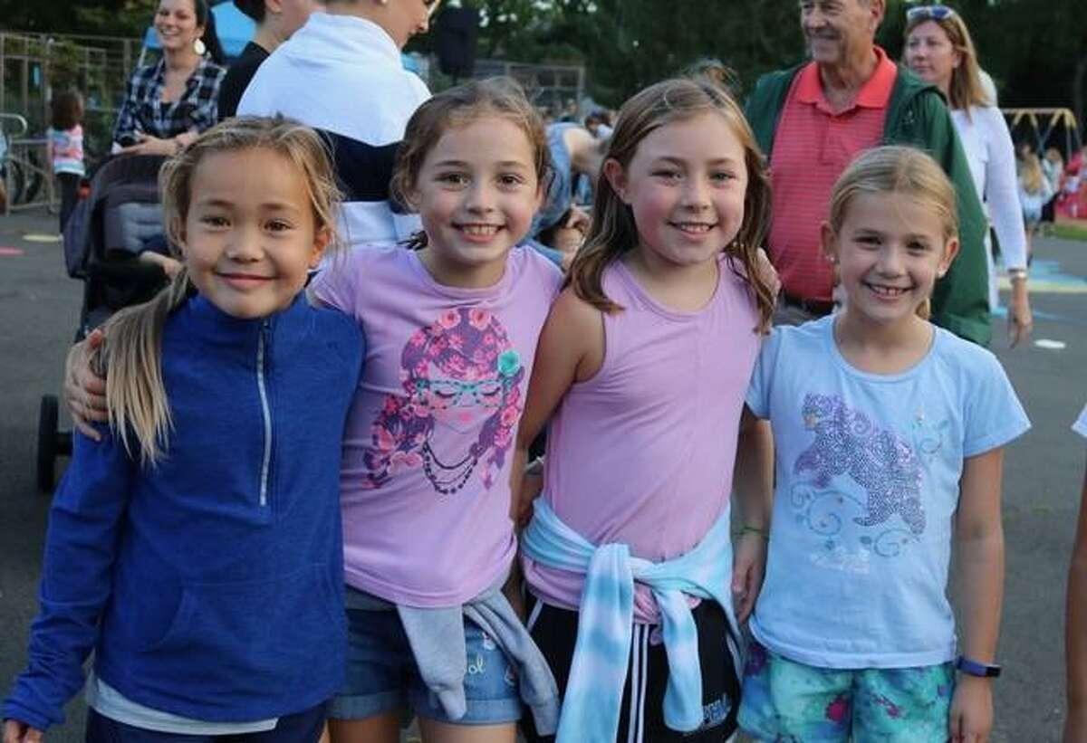 Third graders Laila Barenbaum, Lily Ryan, Madeleine Brisbane and Maddie Hite