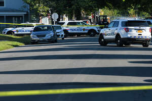 A view looking down Fourth Ave. towards the intersection with 111th Street on Tuesday, Sept. 17, 2019, in Troy, N.Y. A woman was shot near the intersection of Fourth and 111th.  (Paul Buckowski/Times Union)