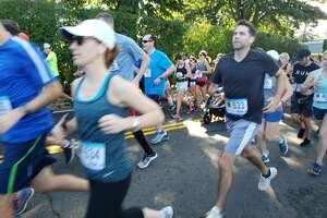 Runners start off at the Darien Road Race.