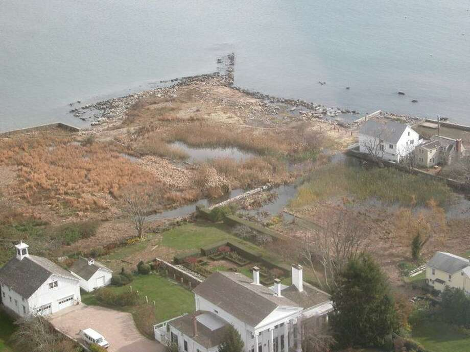 The Dodge Paddock/Beal preserve after Superstorm Sandy ripped through the coastline. Photo: Avalonia Land Conservancy / Contributed Photo