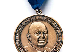 The medal for the James Beard Foundation awards.