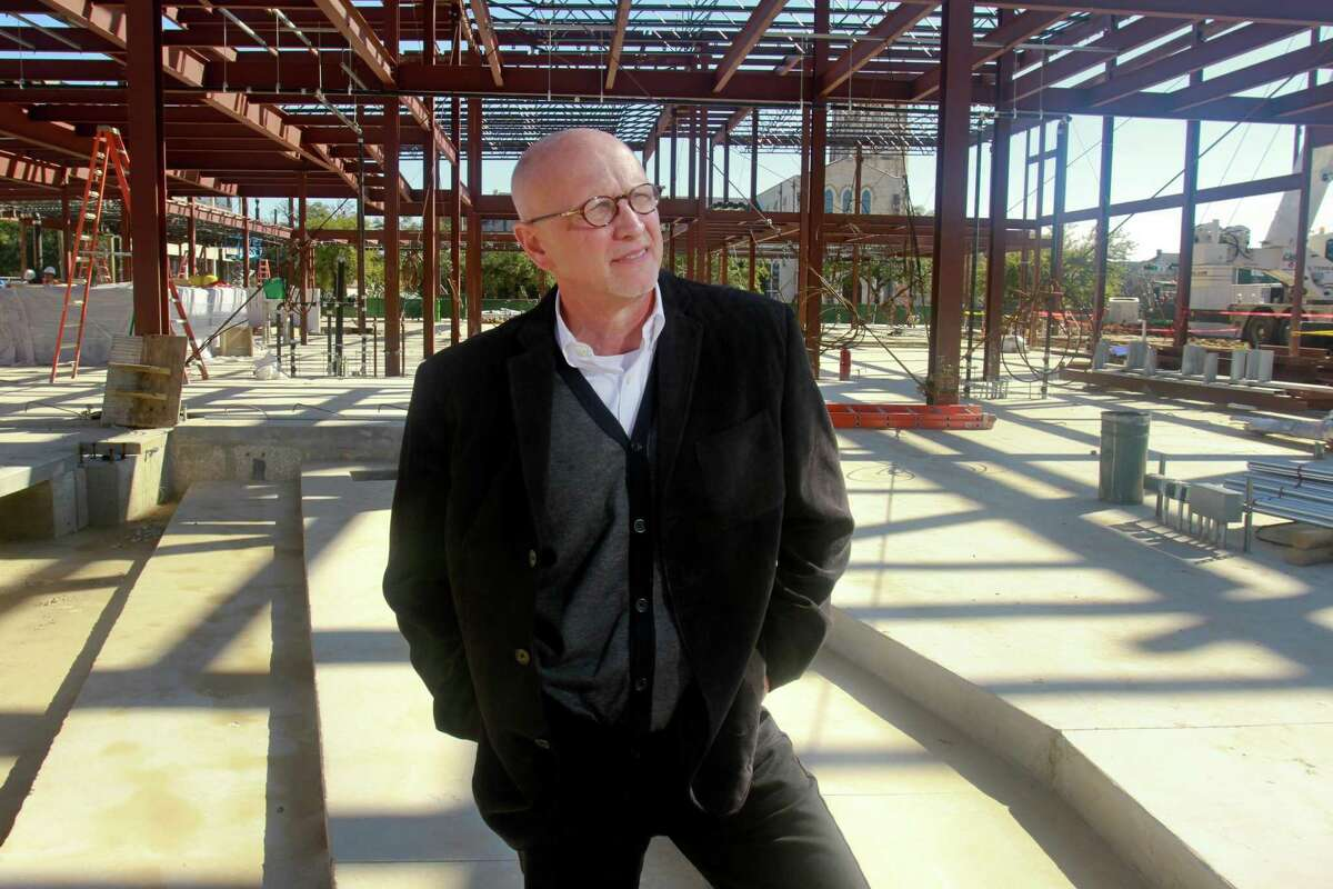 Chuck Still, who is in his first month as executive director of the Midtown Arts and Theater Center Houston (MATCH), at their construction site. The new cultural center for small and mid-sized arts organizations, is designed by Lake|Flato and StudioRed Architects, and is scheduled for completion this fall. (For the Chronicle/Gary Fountain, January 19, 2015)