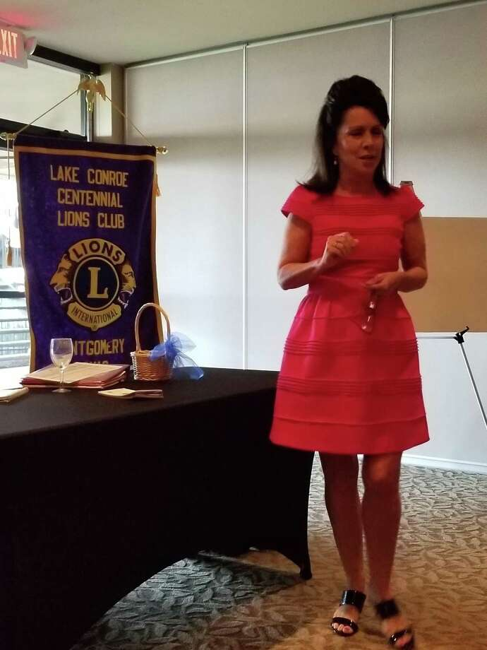 "Lake Conroe Centennial Lions Club welcomed Diane Crawley, Difference Maker, as last week's guest speaker.  Diane's program was entitled ""Change your water - Change your life."" For more information contact Diane at 832 855 0440 or DianeCrawley.com. Photo: Courtesy Photo"