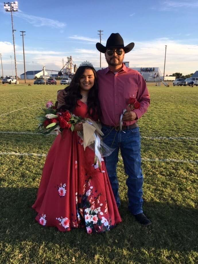 The 2019 Homecoming Queen for Hart ISD is Kirston Diego. She is pictured with her dad, Andy Diego, Jr. She was crowned before the football game Friday evening with the Amherst Bulldogs. Photo: Courtesy Photo/Neoma Williams