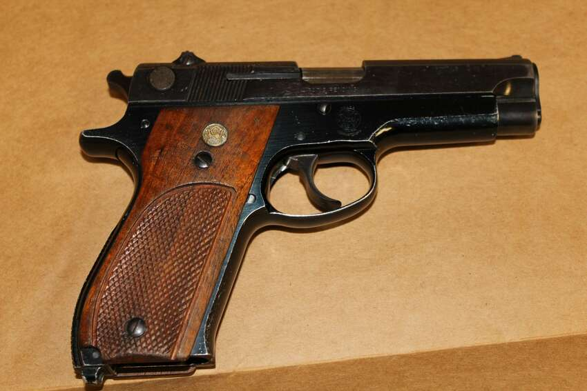 A handgun Colonie police say they recovered from Earl Pittman's car.