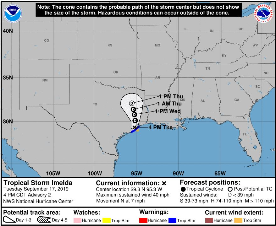 Galveston ISD cancels classes as Tropical Storm Imelda targets Houston
