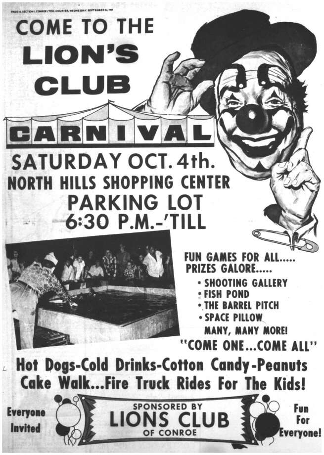 Fifty years ago this week, the Conroe Lion's Club was preparing for its annual carnival. The event was a time-honored fall tradition for those growing up in Conroe in the 1950s and 1960s. Photo: Courier File Art