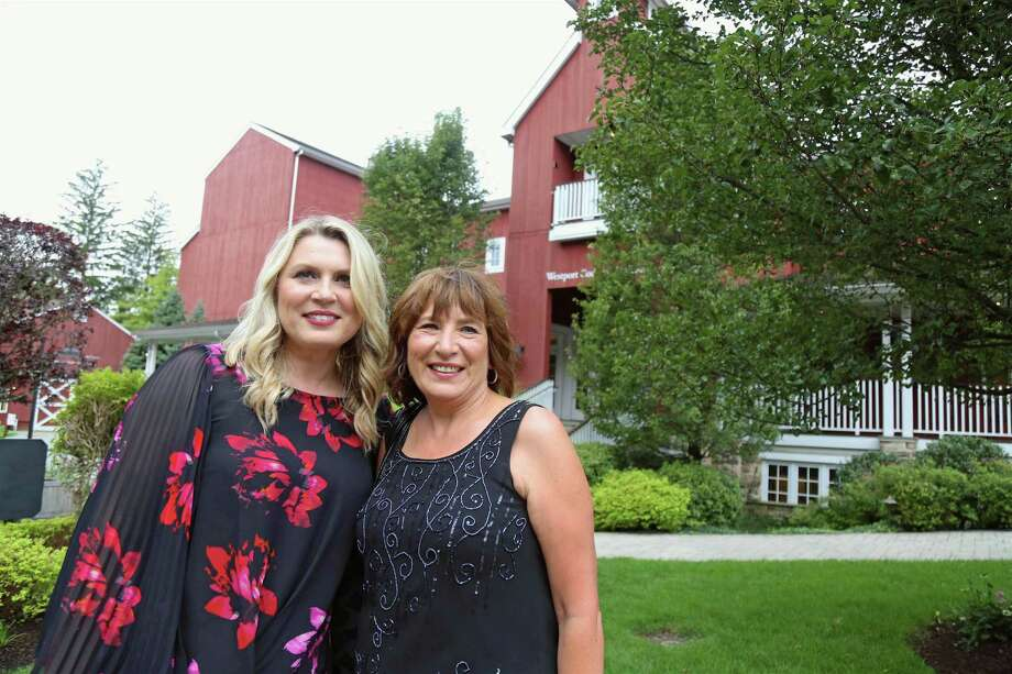 Iwona Alter of San Diego, Calif., and Jolanta Wawer of Poland were in town for the Westport Country Playhouse's Black & White Ball on Saturday, Sept. 14, 2019, in Westport, Conn. Photo: Jarret Liotta / Jarret Liotta / ©Jarret Liotta