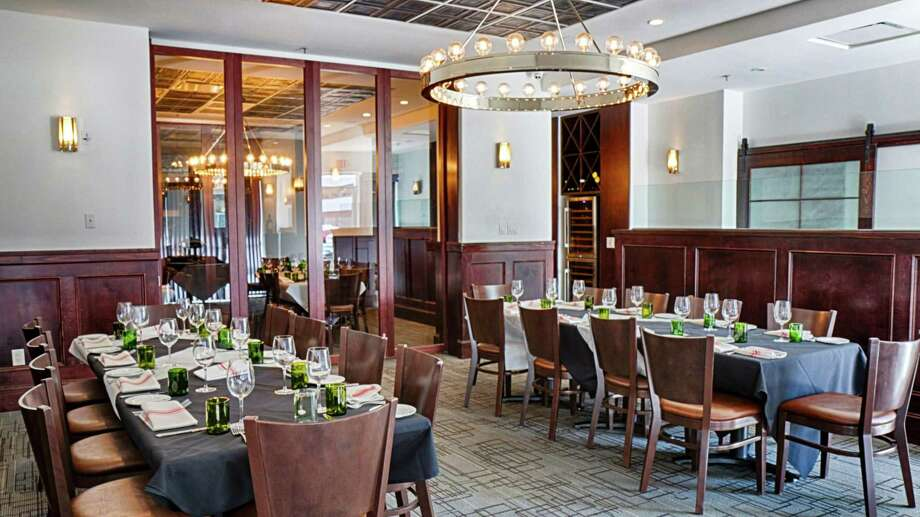 Frank's Americana Revival unveiled new private dining rooms with features such as a wine wall and audio-visual capabilities. Photo: Frank's Americana Revival