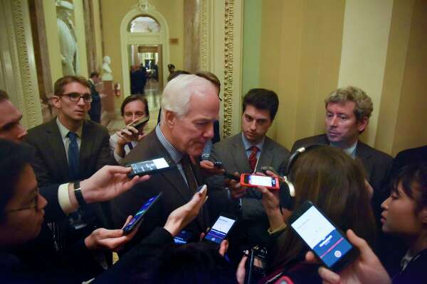 Sen. John Cornyn, R-Texas, has pushed a bill to strengthen existing background checks that got signed into law. MUST CREDIT: Washington Post photo by Jahi Chikwendiu