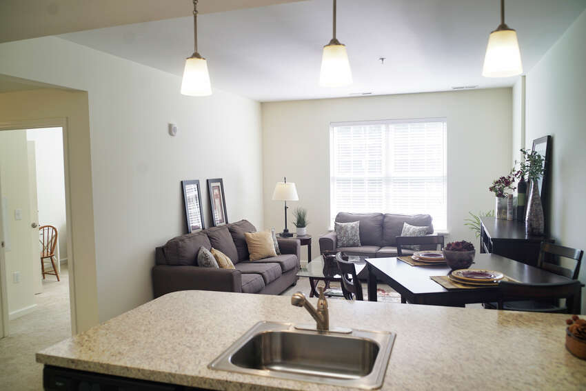 A view of the inside of a two bedroom unit at the newly opened Parkland at Shaker Pointe on Tuesday, Sept. 17, 2019, in Colonie, N.Y. Parkland at Shaker Pointe is a 35-unit apartment that offers rental options on the campus of Shaker Pointe at Carondelet and gives those living at Parkland at Shaker Pointe access to the lifestyle at Shaker Pointe. (Paul Buckowski/Times Union)