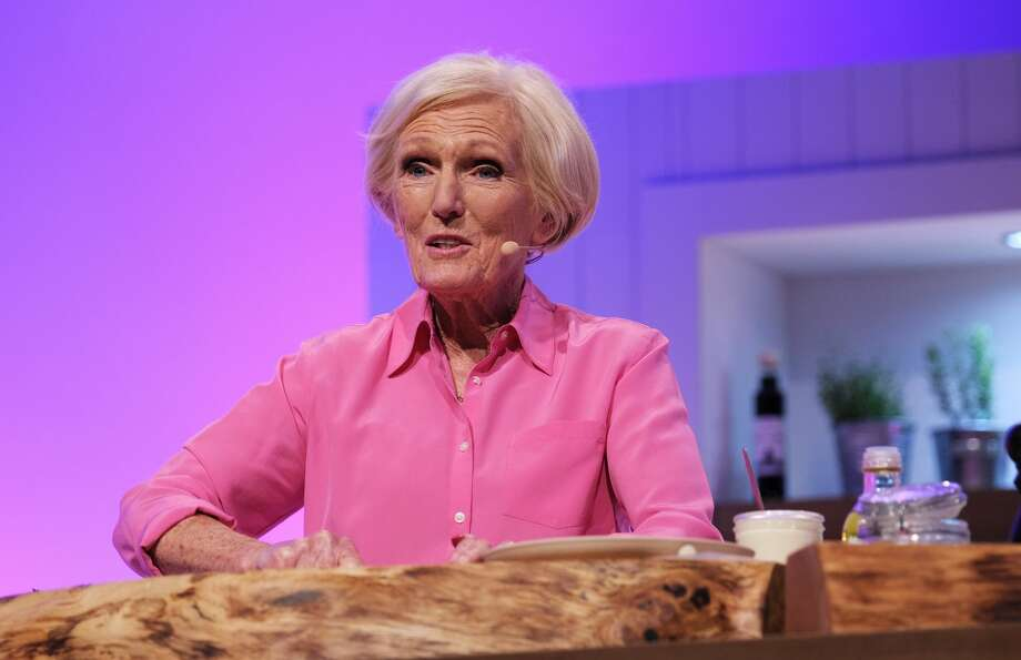 Mary Berry on stage at the BBC Gardeners World Live and Good Food Show Summer 2019 held at the NEC on June 16,  2019 in Birmingham, England. Photo: MelMedia/GC Images