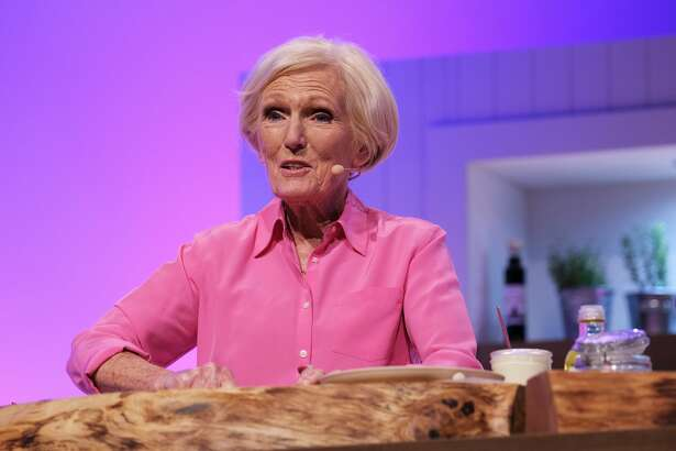 Mary Berry on stage at the BBC Gardeners World Live and Good Food Show Summer 2019 held at the NEC on June 16, 2019 in Birmingham, England.