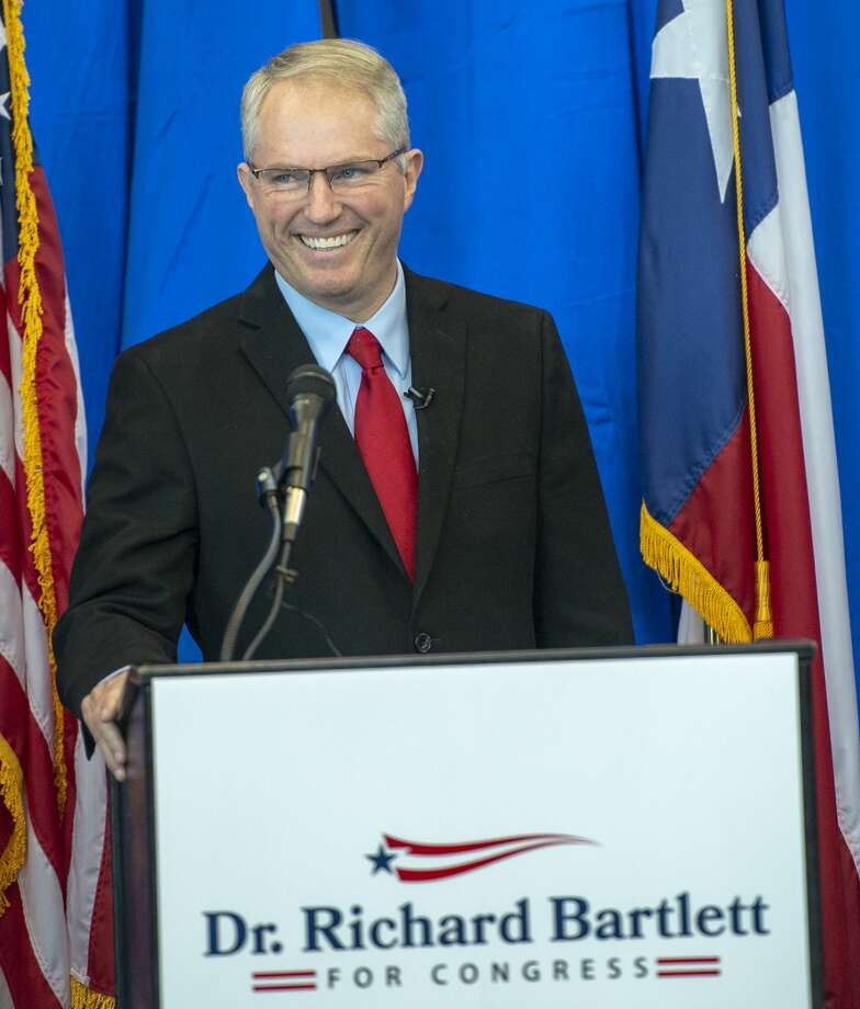 Dr. Richard Bartlett announced that he will run for Congress on Tuesday, Sept. 17, 2019 at the Presidential Archives and Leadership Library. Photo: Jacy Lewis/Reporter-Telegram