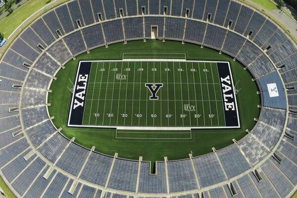 An ariel view of the Yale Bowl in New Haven. Yale Bowl, which opened in 1914, will open the 2019 season with FieldTurf.