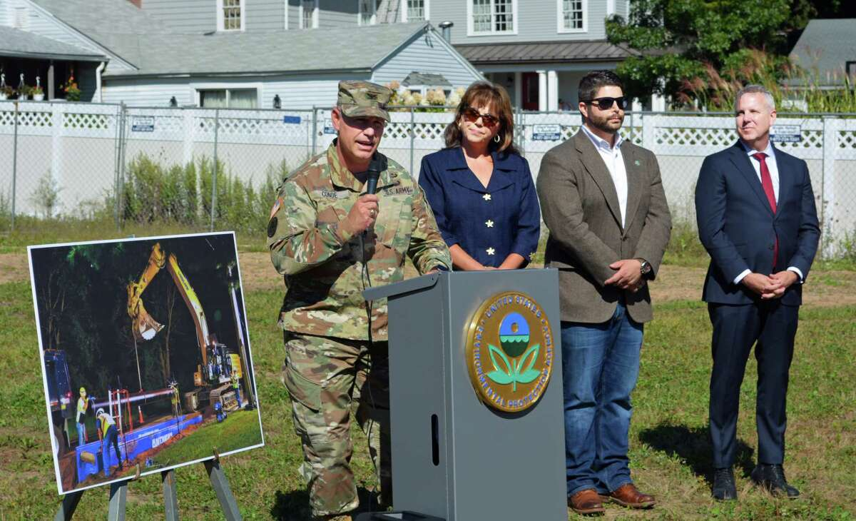 The U.S. Environmental Protection Agency held a press in September in Durham to announce construction had begun on installation of a new water line to provide clean drinking water to the residences and businesses within the Durham Meadows Superfund Site.