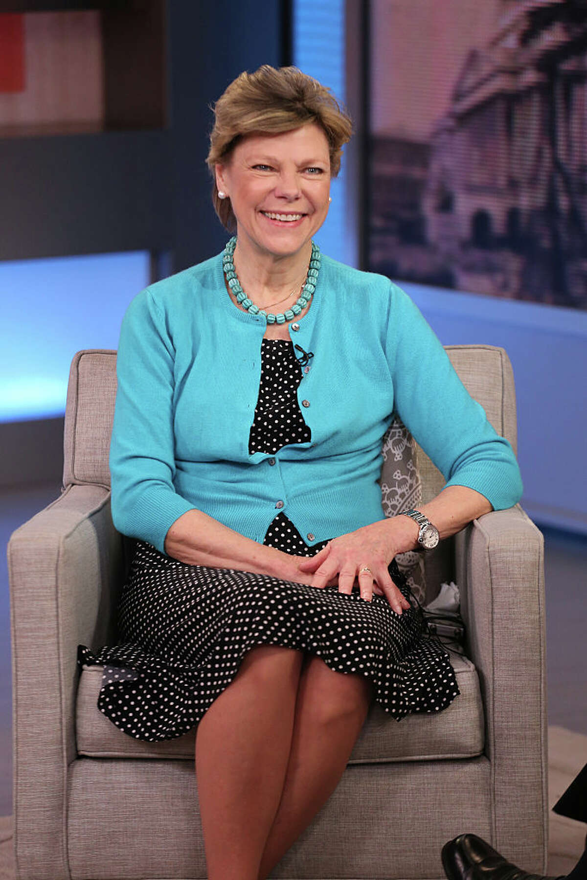 """GOOD MORNING AMERICA - Cokie Roberts talks about her new book, """"Capital Dames"""" on """"Good Morning America,"""" 4/14/15, airing on the Walt Disney Television via Getty Images Television Network. (Photo Fred Lee/Walt Disney Television via Getty Images)"""