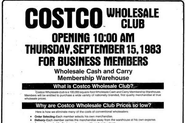 This ad for Costco ran in the Sept. 14, 1983 edition of the Seattle Post-Intelligencer newspaper.