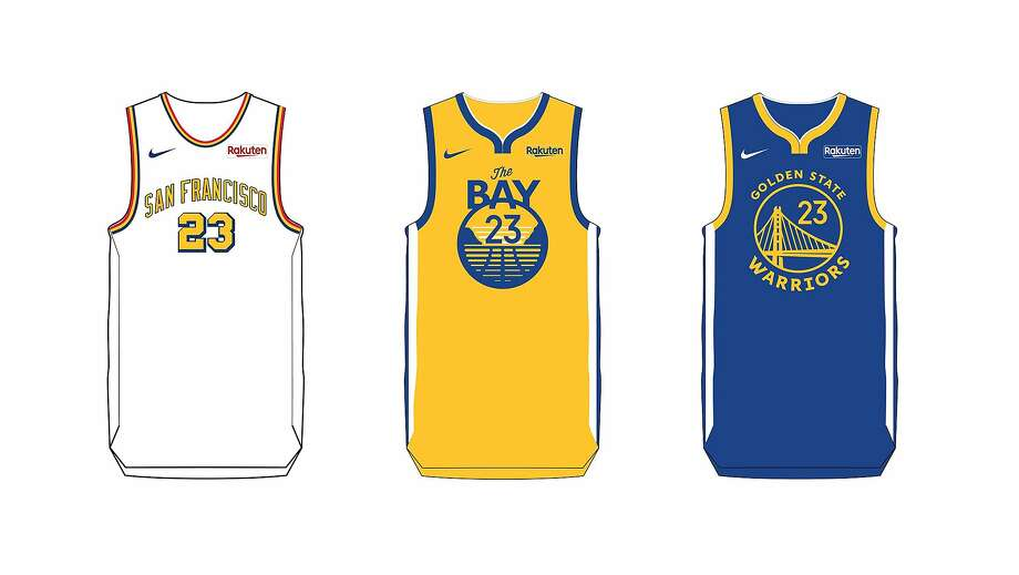 The Warriors unveiled the six jerseys they will wear during the inaugural season at Chase Center.